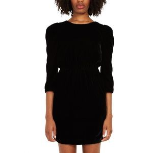 NWT Frank & Oak Puffed Sleeve Velvet Dress